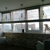 римская штора на панорамные окна