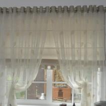 Римская штора с тюлью