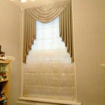 римская штора с ламбрекеном