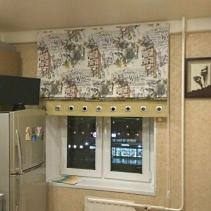 римские шторы кухонные