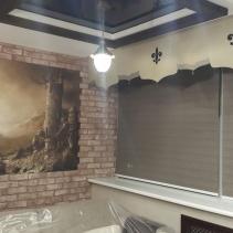 Ламбрекены и рулонные шторы в интерьере