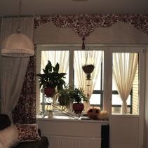шторы ламбрекены классические на балкон
