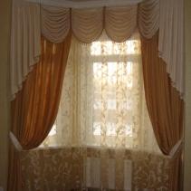 Ажурные ламбрекены для гостиной - пошив