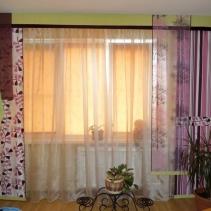 японские шторы в современной квартире