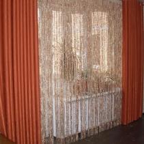 Нитяные шторы в спальню
