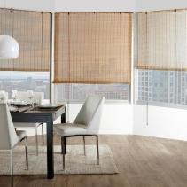 рулонные бамбуковые шторы в интерьере