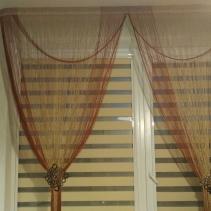 Рулонные шторы день ночь закрытые