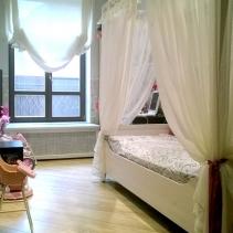шторы для детской комнаты с балдахином