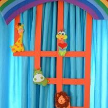 необычные шторы для детской радуга
