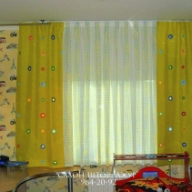 прямые шторы для детской
