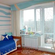 шторы для детской морской дизайн